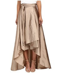 Adrianna Papell High Low Ball Skirt Antique Bronze Women's Skirt