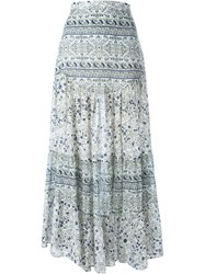 See By Chloe See By Chloe Boho Floral Print Maxi Skirt White