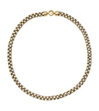 Michael Kors Crystal Gold Tone Chain Necklace