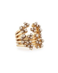 Lulu Frost Jackie Stacked Cluster Ring Gold