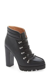 Report Signature 'Poe' Platform Bootie Women Black Faux Leather