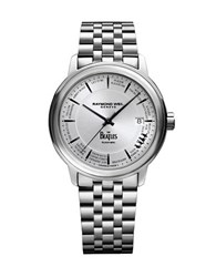 Raymond Weil Maestro Beatles Stainless Steel Link Bracelet Watch Silver