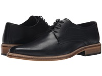 Dune Rotterdam Black Leather Men's Lace Up Casual Shoes
