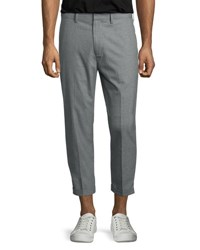 Vince Cropped Chino Trousers Gray Grey