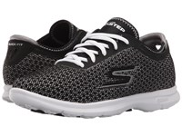 Skechers Go Step Intensity Black White Women's Lace Up Casual Shoes