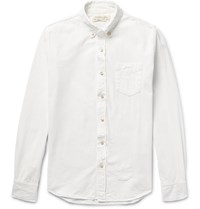 Remi Relief Slim Fit Bandana Appliqued Cotton Oxford Shirt White
