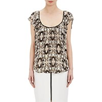L'agence Women's Larice Flutter Sleeve Blouse No Color