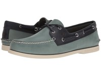 Sperry A O 2 Eye Sarape Blue Surf Navy Men's Lace Up Casual Shoes