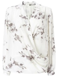 Jacques Vert Marble Floral Overshirt Grey