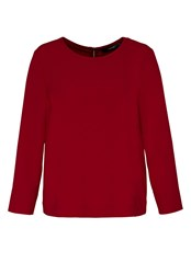 Hallhuber Cr Pe Top With Back Zipper Red