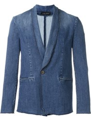 Christian Pellizzari Denim Blazer Blue