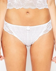 New Look Pretty Lace Brazilian Brief White