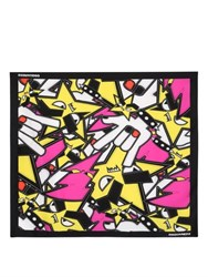 Dsquared Punk Printed Silk Twill Square Scarf