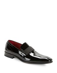 Hugo Boss Huver Patent Leather Oxfords Black