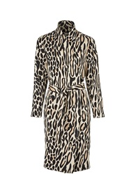 By Malene Birger Apponia Leopard Print Trench Brown Brown