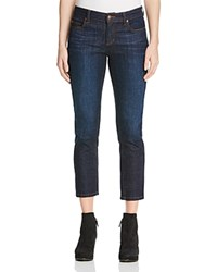 Eileen Fisher Straight Cropped Jeans In Deep Indigo 100 Bloomingdale's Exclusive