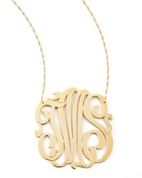 Jennifer Zeuner Jewelry Three Initial Pendant Necklace Jennifer Zeuner Red