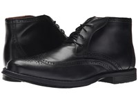 Nunn Bush Rawson Wing Tip Chukka Black Men's Dress Lace Up Boots