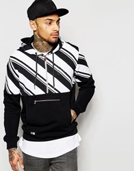 New Era Hoodie With Contrast Stripe Black