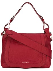 Orciani Zip Up Tote Bag Red