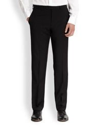 Armani Collezioni Basic Virgin Wool Trousers Navy Black Charcoal