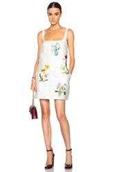 Stella Mccartney Marianne Botanical Embroidery Dress In White Floral