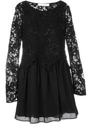 See By Chloa Guipure Lace Layered Dress Black