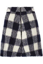 Sea Gingham Knitted Mini Skirt Midnight Blue