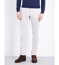 Corneliani Tailored Fit Tapered Stretch Cotton Chinos Stone