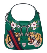 Gucci Small Dionysus Embroidered Hobo Bag Female Emerald