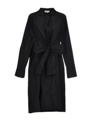Isa Arfen Full Length Jackets Black
