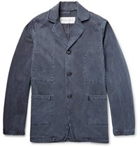 Private White V.C. Washed Cotton Twill Jacket Storm Blue
