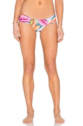 Mara Hoffman Side Ruched Bikini Bottom Orange