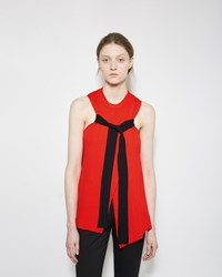 Proenza Schouler Pleated Rib Crewneck With Tie
