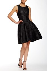 Zac Posen Carlyn Fit And Flare Dress Black