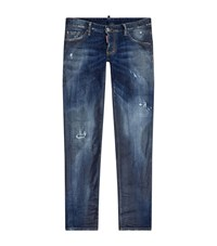 Dsquared2 Indigo Panelled Jeans Male Blue