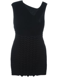 Jay Ahr Origami Panel Dress Black