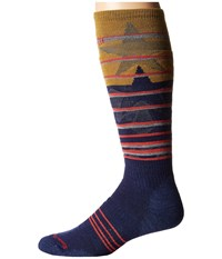 Smartwool Phd Slopestyle Medium Lincoln Loop Ink Men's Knee High Socks Shoes Navy