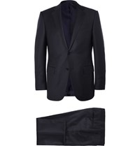 Ermenegildo Zegna Blue Slim Fit Milano Trofeo Wool Suit Navy