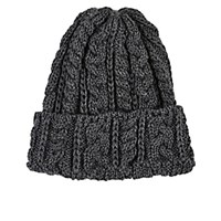 Ca4la Men's Cable Knit Wool Beanie Grey