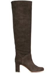 L'autre Chose Square Heel Tall Boots Brown