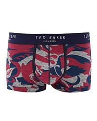 Ted Baker Body Floral Print Boxers Gray Marl
