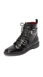 Marc Jacobs Taylor Double Strap Ankle Boots Black
