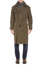 London Fog Men's Trench Coat Covert Green