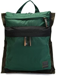 Marni Colour Block Backpack Green