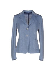 Tombolini Suits And Jackets Blazers Women Sky Blue
