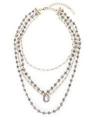 Saks Fifth Avenue Tiered Necklace Gold