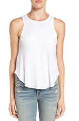 Treasure And Bond Women's Rib Knit Swing Tank White