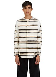 Abasi Rosborough Arc Bdu Long Sleeved Striped Shirt White