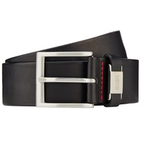 Boss Logo Boss Connio Leather Belt Black